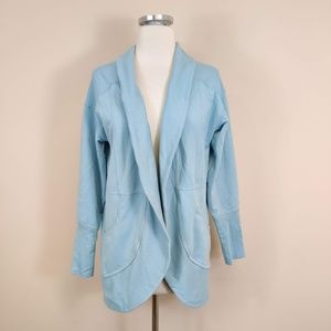 Eddie Bauer Blue Athletic Cardigan Sweater Jacket